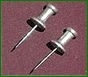 ALUMINUM PUSH PINS - BOX OF 100)