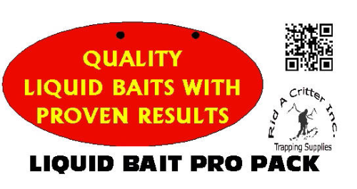 "PRO PACK: ""LIQUID BAIT"" / RID-A-CRITTER EXCLUSIVE!"